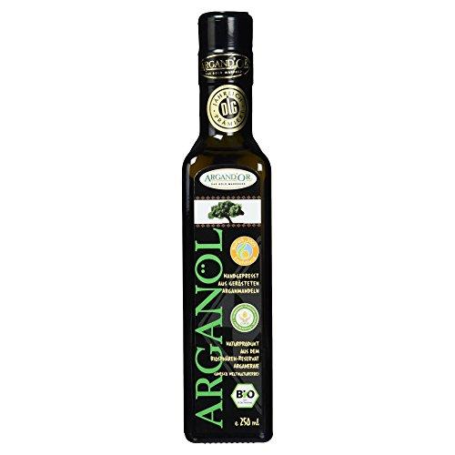 Argand'or Reines Bio-Arganöl - Argannusskernen, Nussiger Geschmack, 250ml