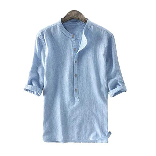 Why Should You Buy Toimothcn Mens Button Down Shirt Casual Linen Cotton Long Sleeve/Short Sleeve Ret...