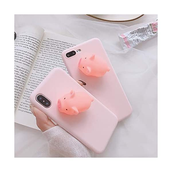 Unnfiko Squishy Piglet Phone Case Compatible With Iphone 7 Iphone 8 Cute 3d Cartoon Animal Soft Silicone Protective Case With Stand Shout Piglet Iphone 78