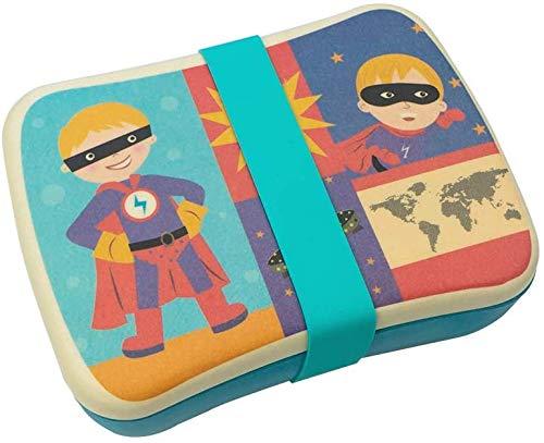 Fiambrera de Bambu Infantil Pack Tuper y Sandwichera de Fibra de Bambú - Material Ecologico, Reciclable, Biodegradable y Ligero - Apto para Lavavajillas - Lonchera Eco, Bio, Sin BPA - Ideal niños