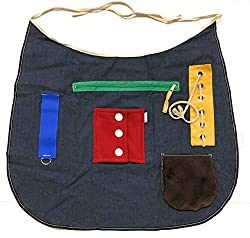 Ecovona - Special Needs Sensory Therapy Activity Apron (Adult Size) for Seniors & Adults with Dementia, Alzheimer's and Special Sensory Needs | Fidget Design Improves Dexterity and Mental Stimulation