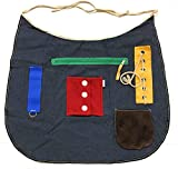Ecovona - Special Needs Sensory Therapy Activity Apron (Adult Size) for Seniors & Adults with Dementia, Alzheimer's and Special Sensory Needs   Fidget Design Improves Dexterity and Mental Stimulation