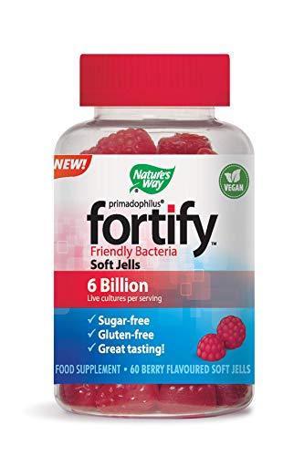 Nature's Way Primadophilus Fortify Friendly Bacteria 60 Soft Jells | 6 Billion Live Cultures per Serving | Vegan