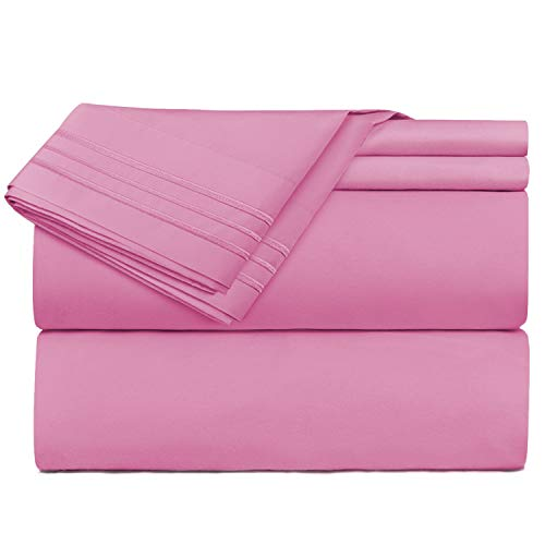 Nestl Bedding 4 Piece Bed Sheet Set – Deep Pocket Hotel Sheets – Cool...