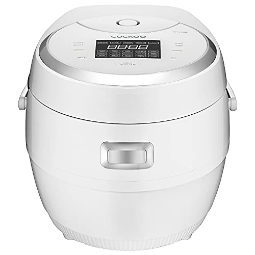 Cuckoo CR-1020F 10 Cup Micom Rice Cooker and Warmer, 16 Menu Options, Nonstick Inner Pot, White