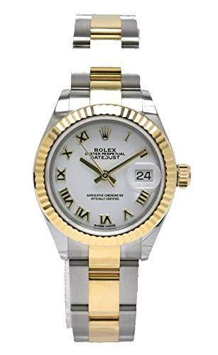 [ロレックス] ROLEX デイトジャスト ホワイトローマ文字盤 デイト SS/YG ランダム番 オイスターブレス レディース 腕時計 279173[中古]