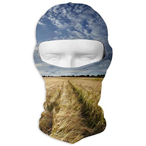 NA Field Wolken Weizengras Himmel Wolken Landschaft Motorrad Maske Skihaube Mütze Schleier Sturmhaube UV-Schutz Vollgesichtsmaske