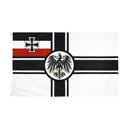IUIIUI Deutsch DK Reich Der Flagge, 100% Polyester - Metallene Schnürsenkelösen - Doppelt Vernähte (90x150cm) (Color : C05C)