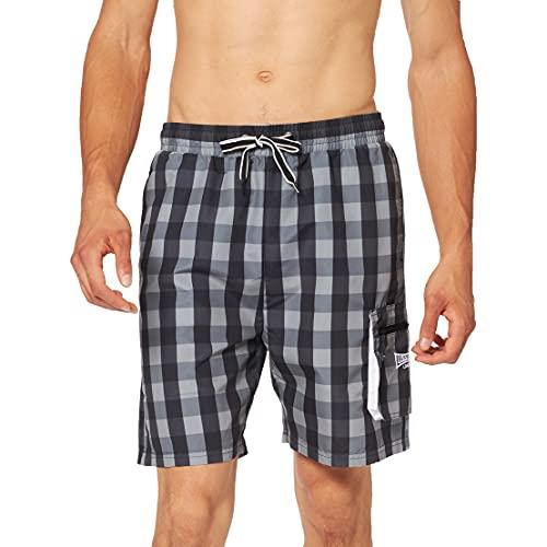 Lonsdale London Herren TIGLEY Men Beach Shorts, Black, M