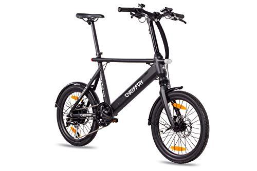 "Chrisson 20ERTOSBLACK Bicicleta Electrica de 20"" Negra, Unisex-Adult, Normal"
