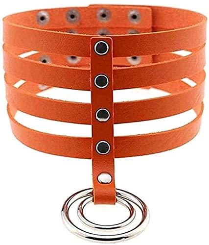BEISUOSIBYW Co.,Ltd Collar de Cadena Ovalada con eslabones Dorados de Color de diseño, Collar con Colgante de Perlas para Mujer, joyería Elegante, Collar de Fiesta, Regalos