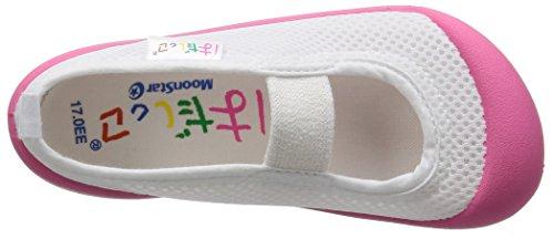 [ムーンスター]上履き日本製14~21cm0.5cm有キッズはだしっこ01ピンク18.0cm2E