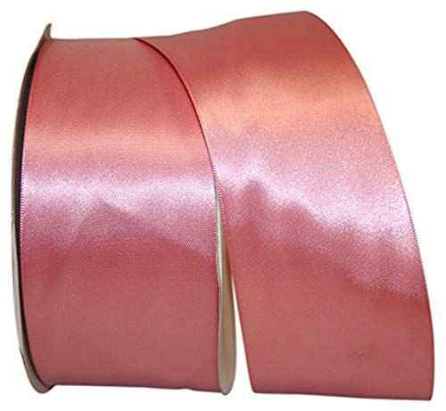 Reliant Ribbon Double Face Satin - Dfs Ribbon, 2-1/2 Inch X 50 Yards, Dusty Rose