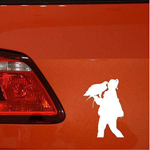 2 stuks persoonlijkheid dame dier kus vinyl sticker auto sticker 9x13cm