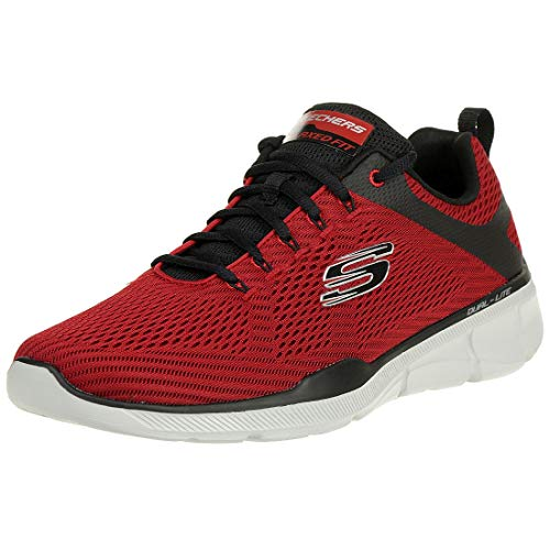 Skechers Equalizer 3.0-52956, Men's Low Top Trainers, Red (Red Black Rdbk), 10 UK (45 EU)
