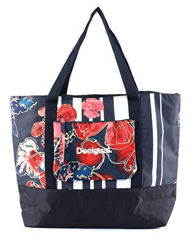 Desigual Scarlet Bloom Carry Bag Patch Pocket Peacoat