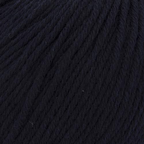 ggh Tavira, Farbe:013 - Marine, 100% Baumwolle, 50g Wolle als Knäuel, Lauflänge ca.80m, Verbrauch 800g, Nadelstärke 4-5, Wolle zum Stricken und Häkeln