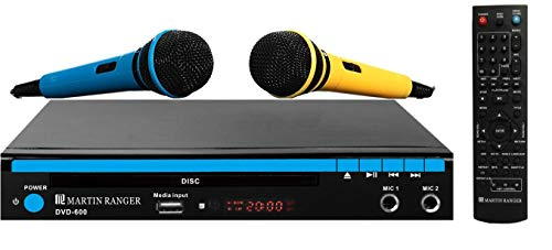 Martin Ranger 1080p HDMI Multi Region Code Free DVD Player with USB Playback and Karaoke Functions and Two Microphones