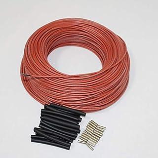 DZF697 1PC Caoutchouc en Silicone Rouge Far Infrarouge Chaud Thermostat Chauffage en Fibre de Carbone Câble Chauffant (Tai...