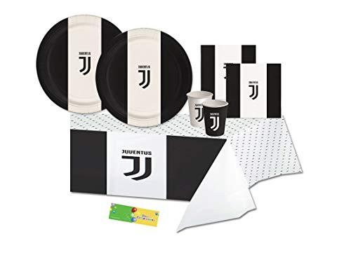 juve Kit n 3 F.C. Juventus Coordinato tavola Compleanno Festa Calcio Party