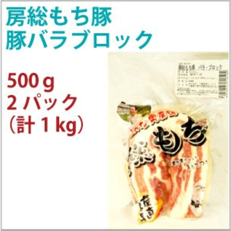 国産 豚肉 房総もち豚 豚バラ ブロック 500g 2パック