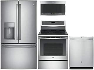 GE Profile 4-Pcs Kitchen Package With PFE28KSKSS 36