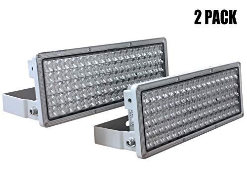 LED Flutlicht 100W (2 Stücke) Rugging, Flutlicht, Flutlicht 200W, LED Strahler, LED Fluter, 6500K IP67 Für Gärten Garagen Lagerhäuser