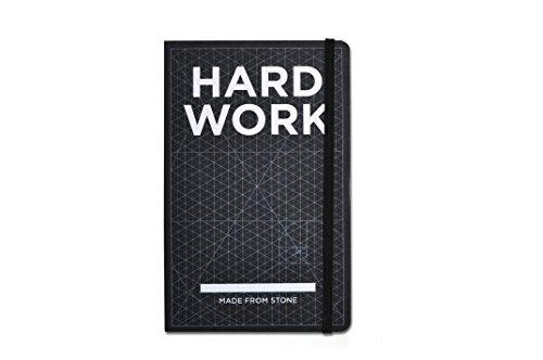 Hard Work Book - Notizbuch aus Steinpapier