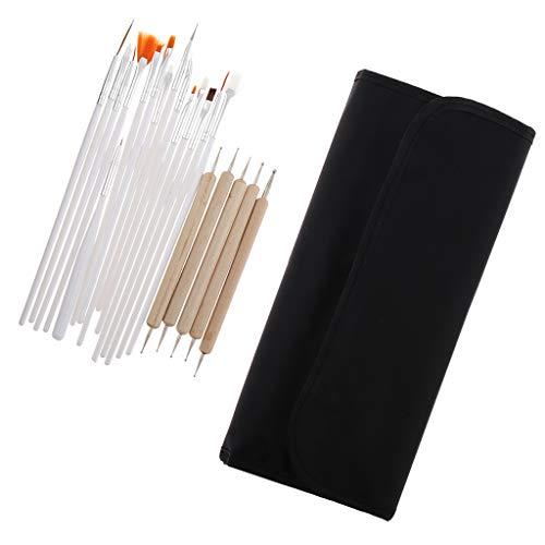 MERIGLARE 20x Nail Dotting Pen Nail Art Design Manucure Professional Nail Salon Tools