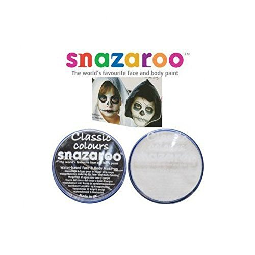 2 Grandes 18ml Snazaroo Peinture Visage Poudriers Couleurs: 1 noir et 1 BLANC [Jouet]