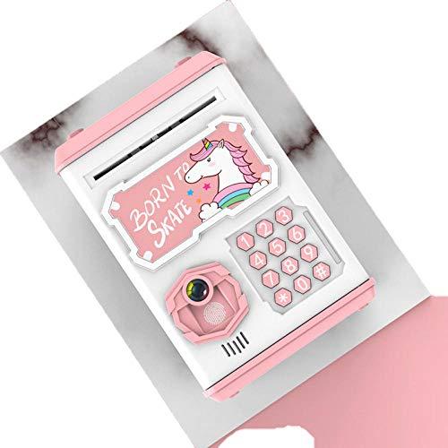 LIUKLAI Rollo automático de Dinero Huella Digital Puerta de Apertura automática Hucha Dibujos Animados creativos canción música educación temprana-3
