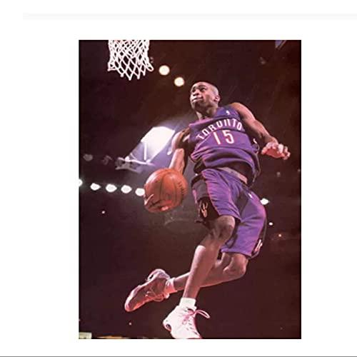 Vince Carter Flying Dunk jugador de baloncesto póster artístico lienzo pintura decoración del hogar póster de pared impresiones en lienzo-50x70 cm sin marco