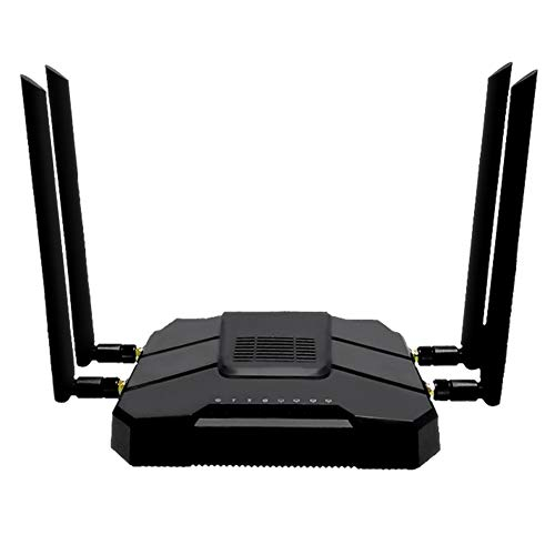 JSX Gigabit Router WiFi, con Ranura para Tarjetas SIM 1200Mbps 2.4G / 5 GHz 512 MB De Banda Dual 4G LTE Módem 3G Router Inalámbrico Repetidor