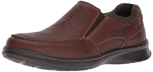Clarks Men's Cotrell Free Loafer, Tobacco Leather, 10.5 Wide US