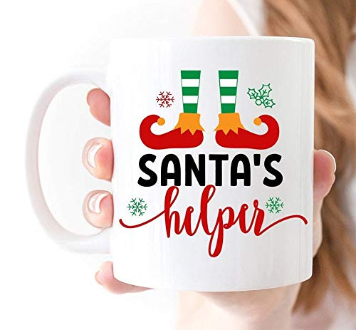 Kerstmis Mokken Santas Helper Kerstmis Mok Santa Koffie Mok Holiday Mokken Kerstmis Koffie Mok Kerstmis Decor Koffie Mokken