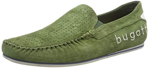 bugatti 321704603400, Mocassini Uomo, Verde (Green 7000), 44 EU