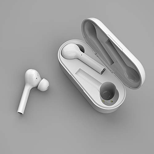 Haoooan Auriculares Bluetooth Inalámbrica Bluetooth 5.0 Auriculares verdadera Auriculares Auriculares inalámbricos Bluetooth estéreo for Auriculares (Color : White)