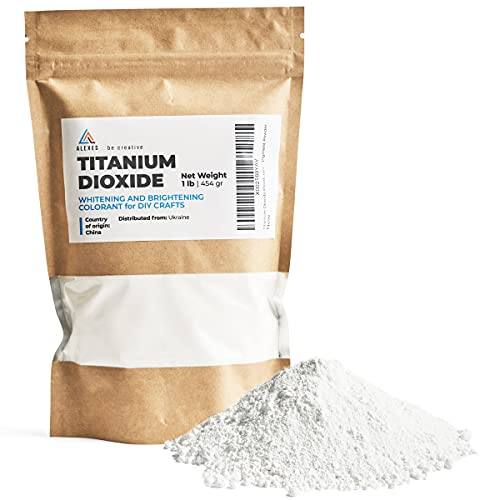 Titanium Dioxide Pigment 1 lb - Pure Titanium Dioxide for Soap - Whitening Colorant for DIY and Crafts - Titanium Dioxide for Soap Making - Titanium Dioxide Powder