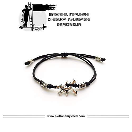 Armband anpassbare SCHORNSTEINFEGER. HAUS. KAMIN. REINIGUNG; Tibetische Perlen. Satinschnur auserlesene Farbe; Handmade