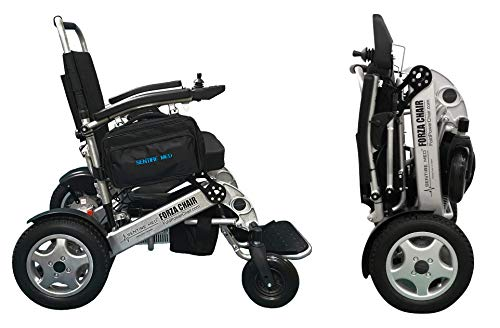 Sentire Med Forza FCX Deluxe Fold Foldable Power Mobility Aid Wheelchair, Lightweight Folding Carry Electric Wheelchair, Electric Motorized Wheelchair, Portable, Compact for Airline Travel