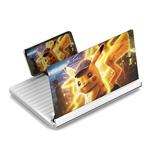 12 Zoll Telefon-Lupe-Lupe 3D HD-Verstärker Vergrößerter Faltbarer Standhalter Universal Mobiltelefonprojektor zum Ansehen von Film auf Allen Smartphone Mobile Lupe-Bildschirm Tragbarer Telefonständer