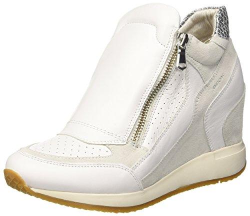 Geox D Nydame A, Scarpe da Ginnastica Alte Donna, Bianco (White/off White), 38 EU