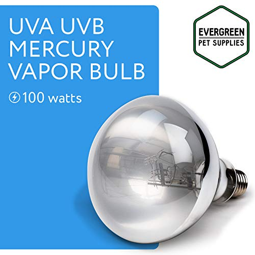 Evergreen Pet Supplies 100 Watts UVA and UVB Vapor Light