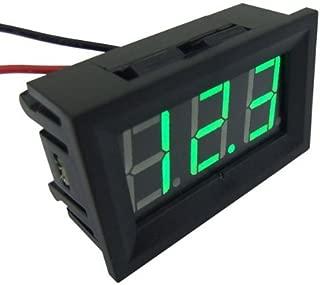 SMAKN® 2 Wire Green Dc 4.0-30v LED Panel Digital Display Voltage Meter Voltmeter