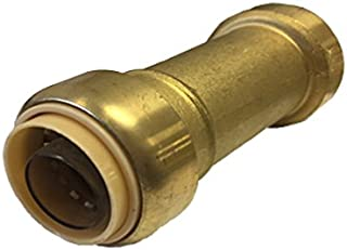 Libra Supply Lead Free 1/2 inch Push-Fit Repair Slip Coupling, Push to Connect, (Click in for more size options), 1/2'', 1/2-inch for Copper, PEX, CPVC
