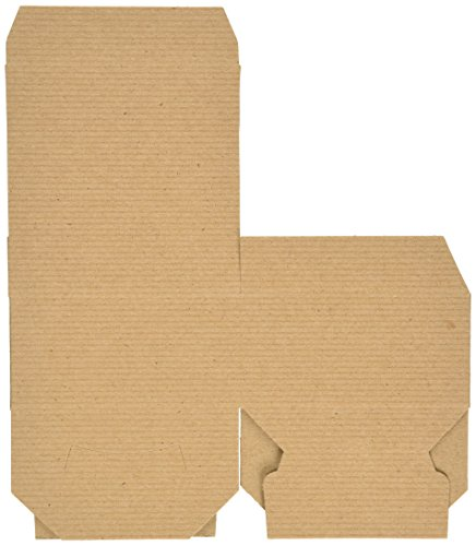 Preimer High Kraft Pinstripe Brown Treat Gift Boxes (4 in X 4 in X 2 in 10 Pack)