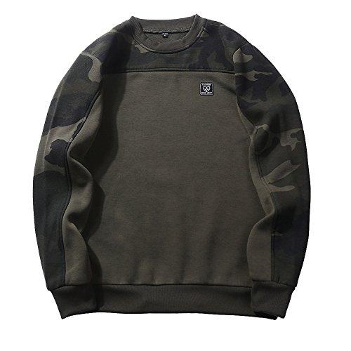 Met lange mouwen met capuchon Heren Rundhalspullover Camouflage Outdoor Sports Vest