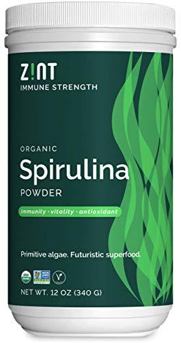 Zint Spirulina Powder, Organic (12 oz): Premium Immune Support Supplement, Blue-Green Algae, Immunity Booster, Non-Irradiated Vegan Protein