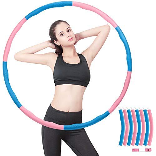 Hula Hoop Fitness, Hula Hoop Professionale per Adulti/Bambini , Hula Hoop Regolabile e Staccabile A 8 Sezioni, può Perdere Peso ed Esercizio, per Fitness, Ginnastica, Competizioni Indoor e Outdoor