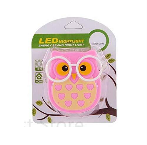 Linfei Mini Owl Baby Night Light Sensor Automático Luz Lámpara De Control Eu Ee. Uu. Enchufe Niño Niños Bebé Habitación Lámpara Led Socket Animal Veilleuse